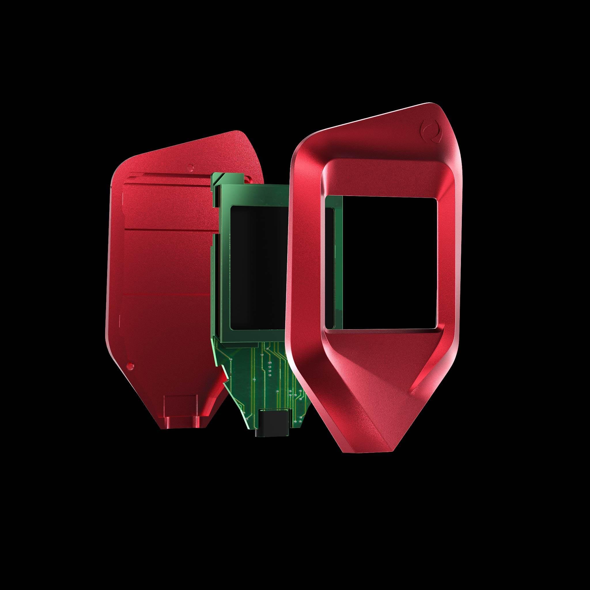 corazon red trezor model t crypto wallet