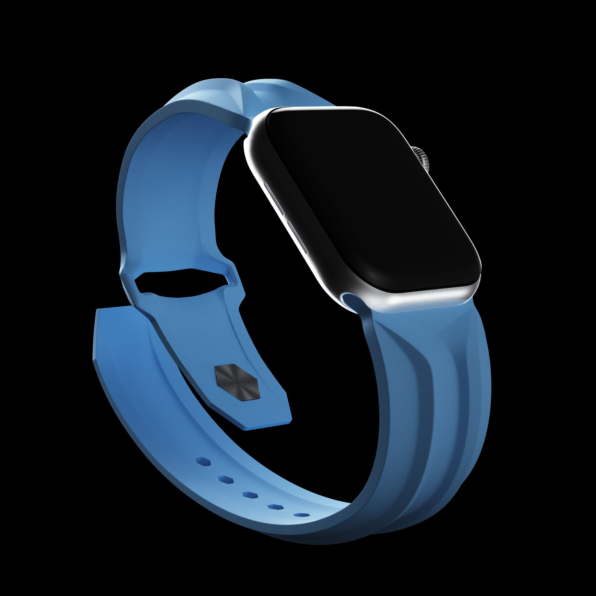 blue cyber apple watch band
