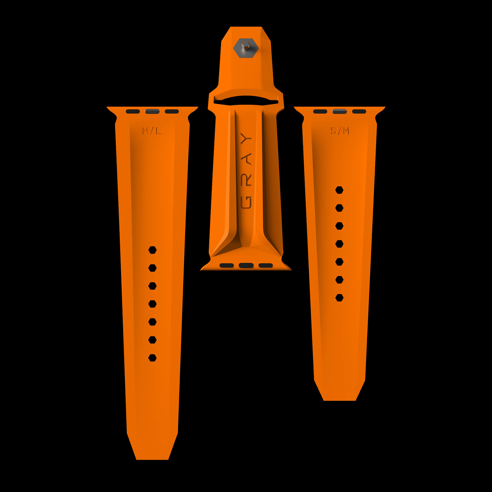 orange apple watch band and strap
