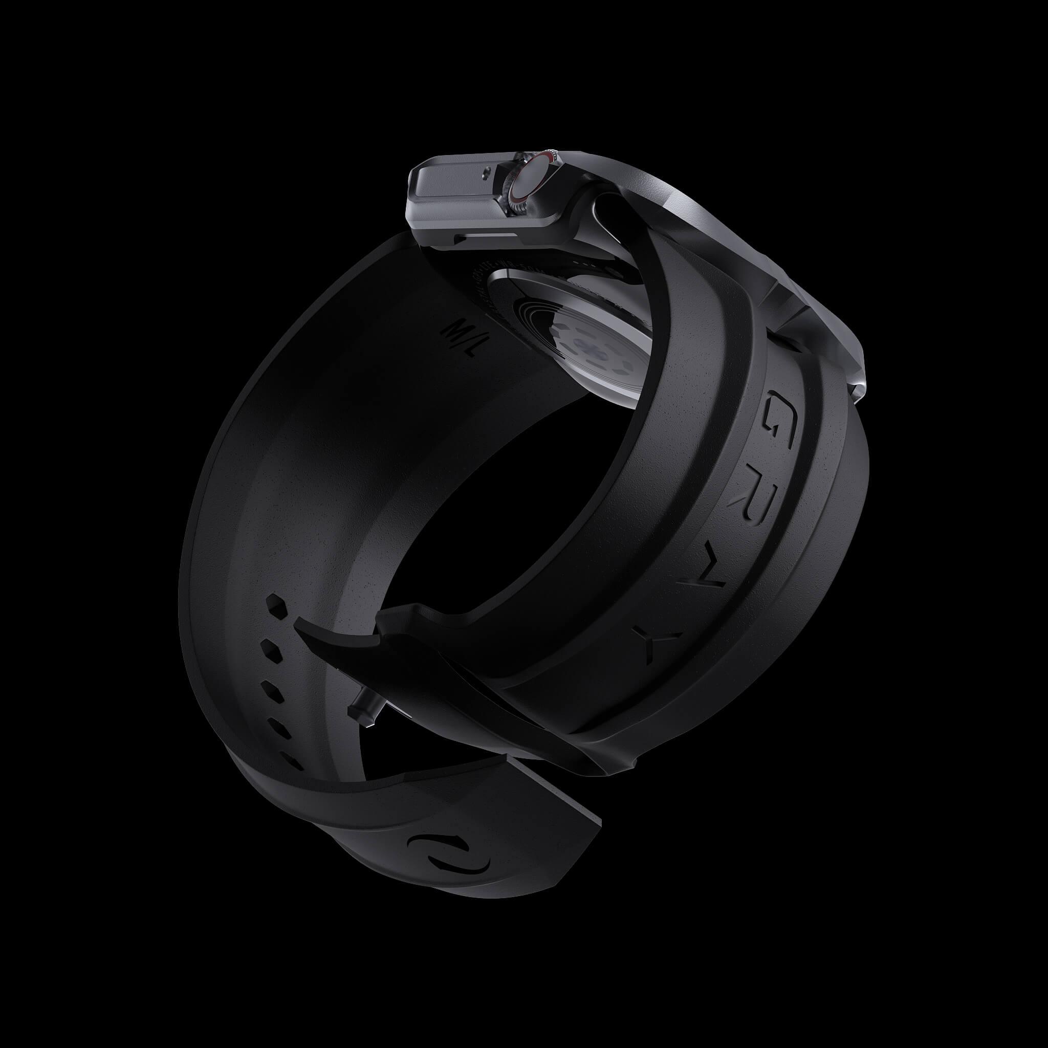 cyber watch gray, luxury designer aluminium metal apple watch case