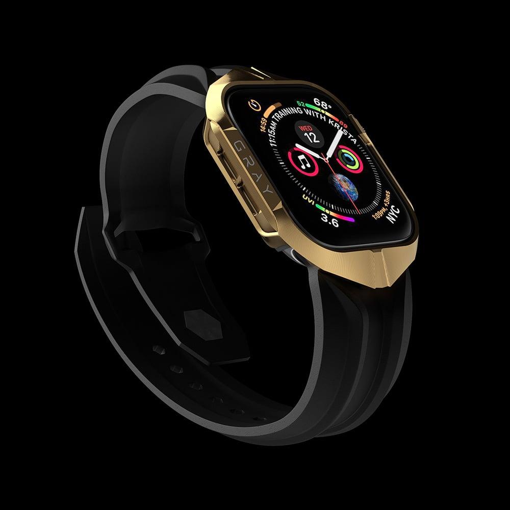 Gold Cyberwatch Case on Apple Watch