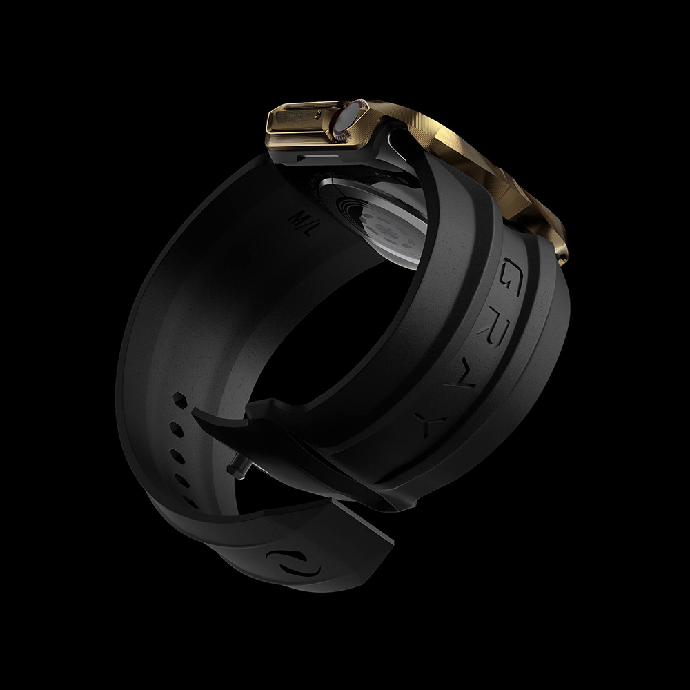 Black Cyberwatch Band on Apple Watch