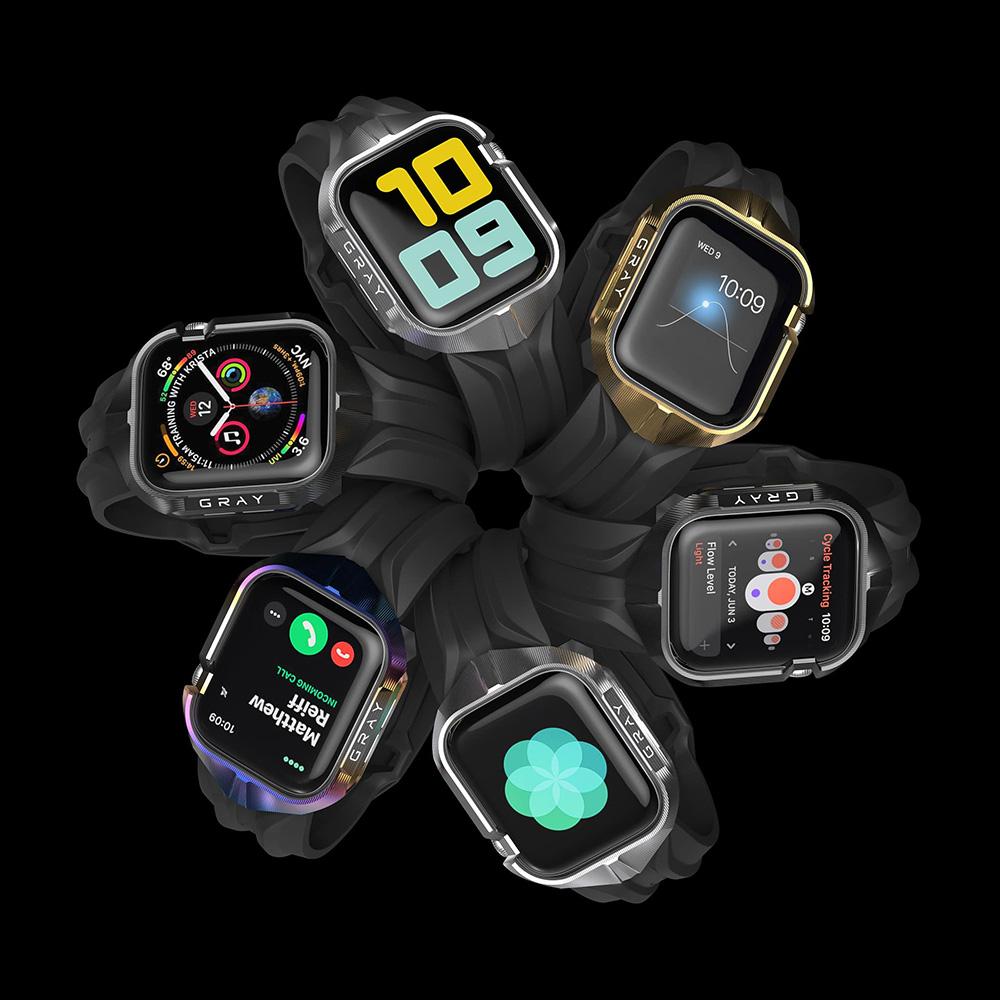 Six Cyberwatch Cases on Apple Watch