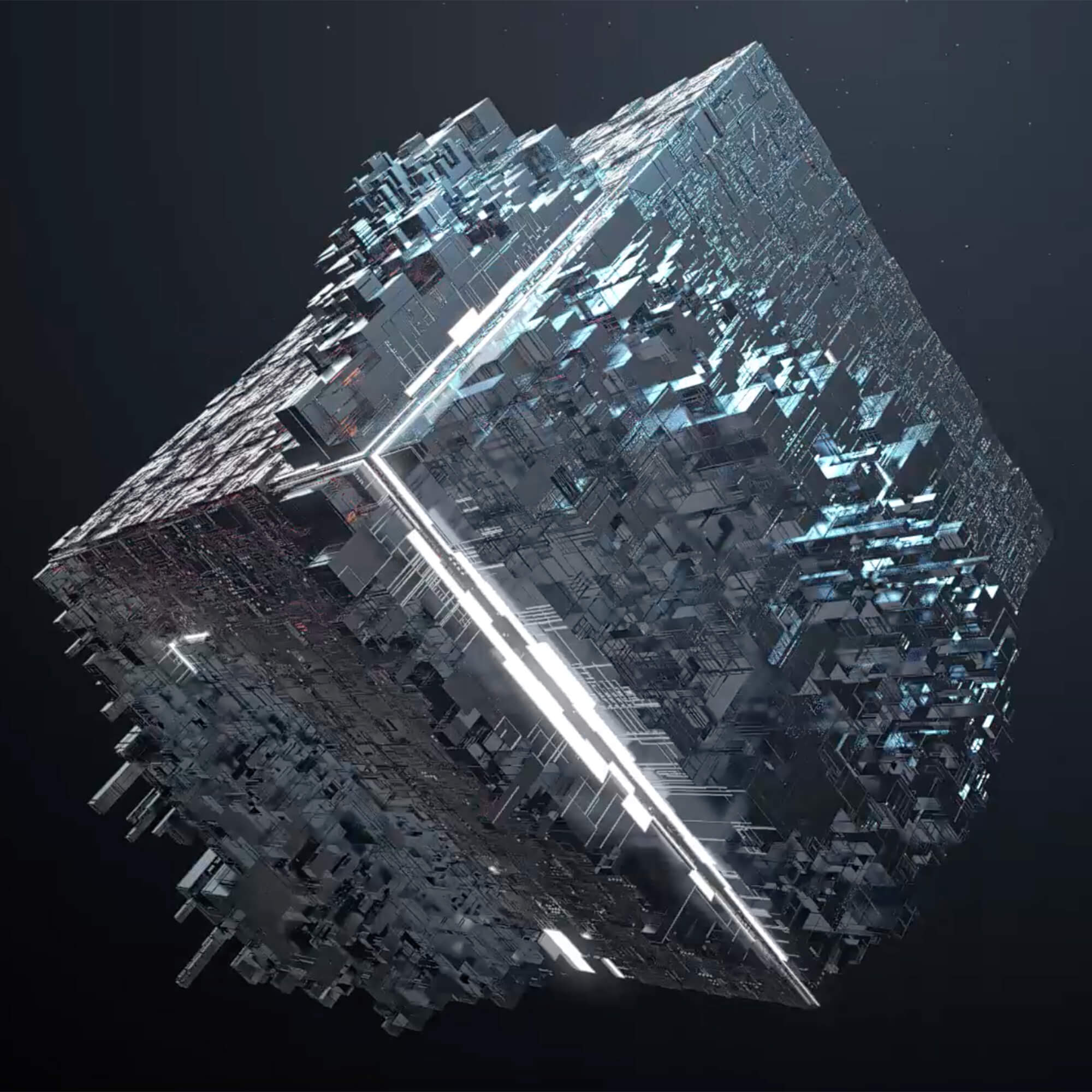 Crypto cube in space