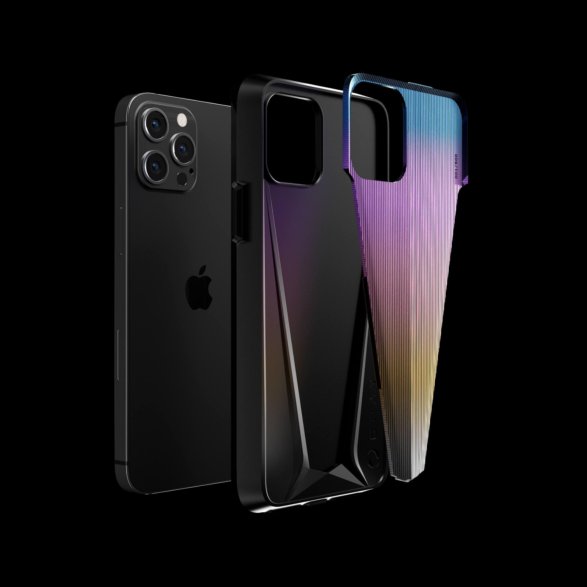 morpheus aurora luxury titanium iPhone 12 pro case
