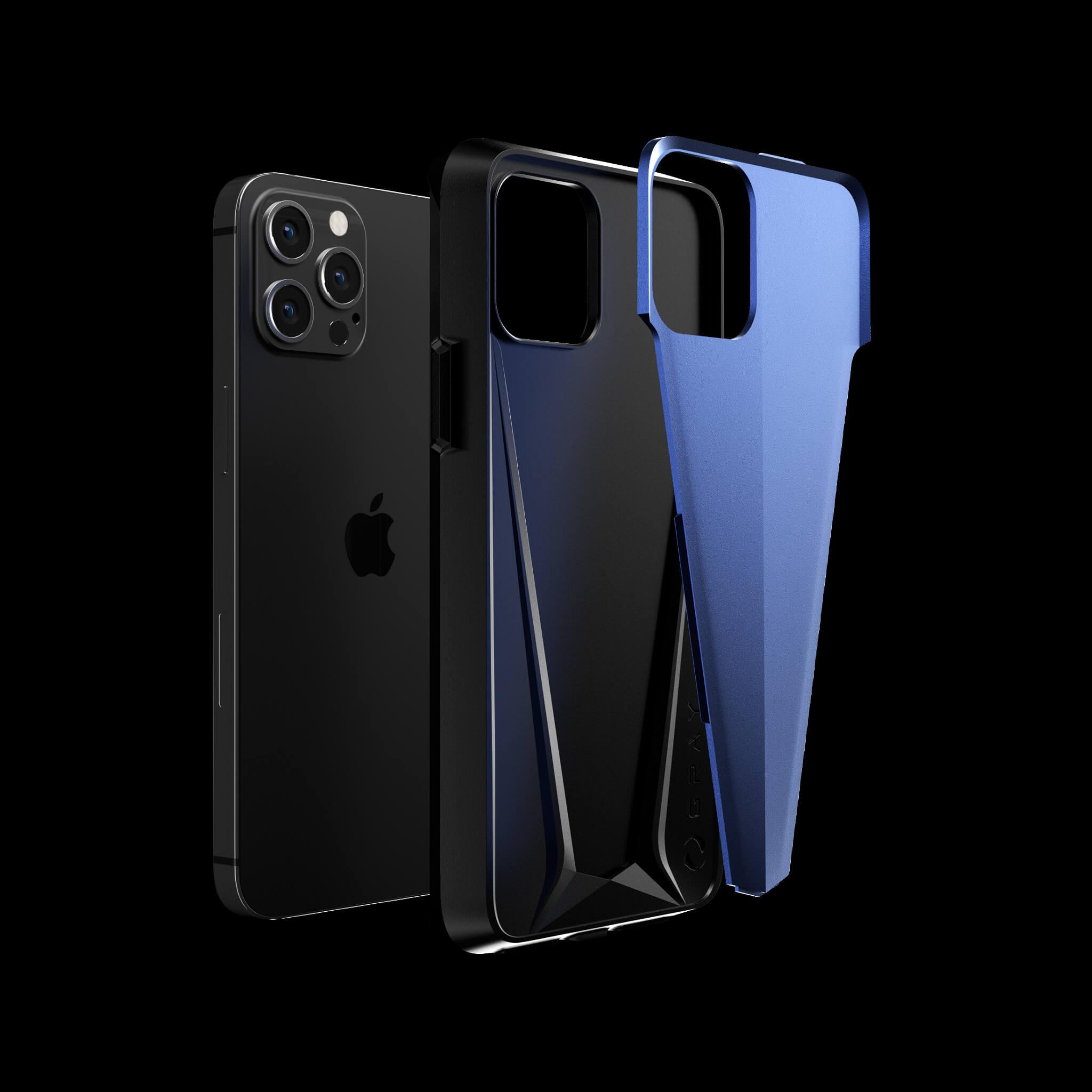 morpheus galactic blue aluminium metal luxury iPhone 12 pro case
