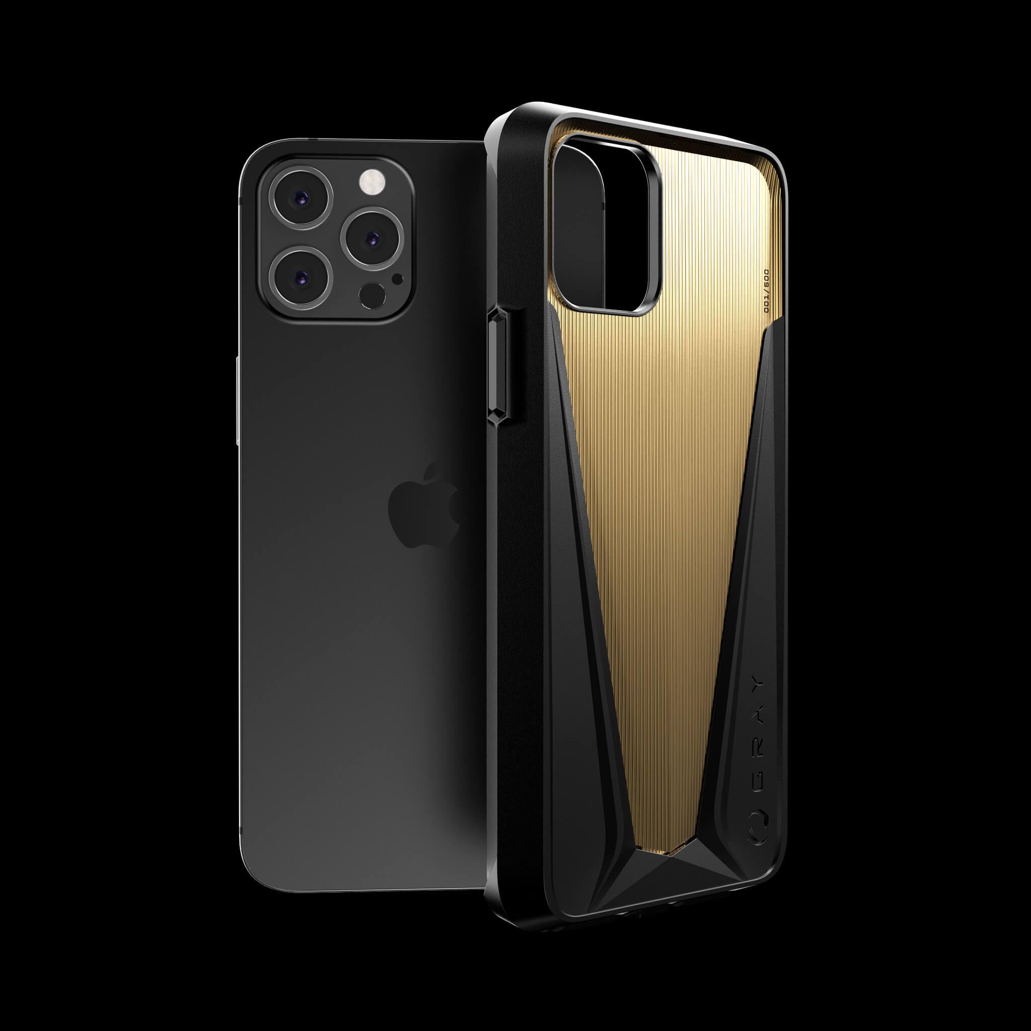 morpheus gold luxury titanium iPhone 12 pro case