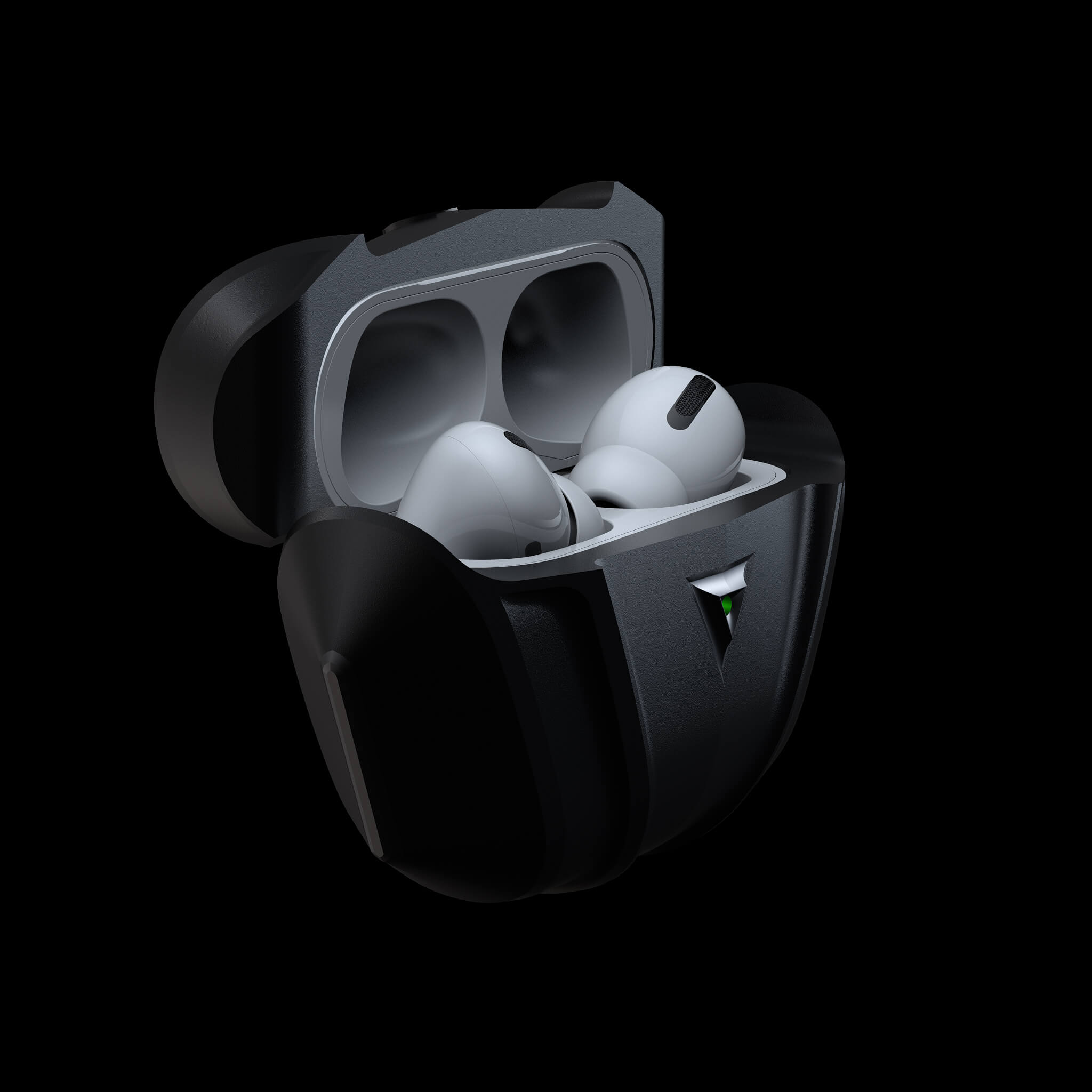 raptor stealth luxury aluminium metal airpods pro case