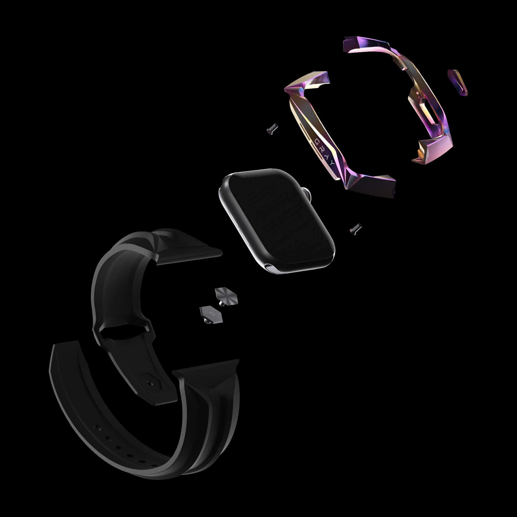 reskar aurora titanium metal apple watch case