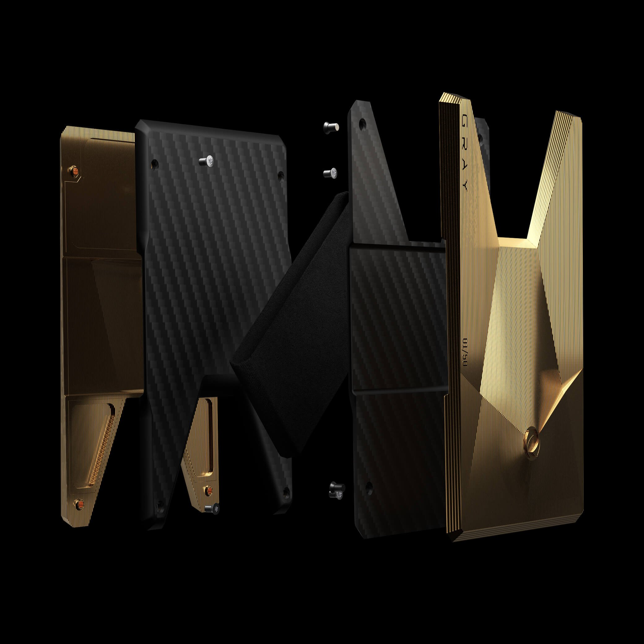 vandium gold luxury titanium metal card wallet